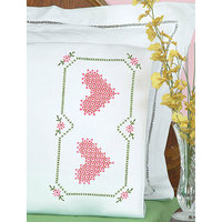 Jack Dempsey NOTM275902 - Stamped Pillowcases with White Perle Edge