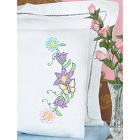 Jack Dempsey NOTM358959 - Stamped Pillowcases With White Perle Edge