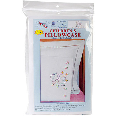 Jack Dempsey Children's Stamped Pillowcase With White Perle Edge 1/Pkg-Ann & Andy