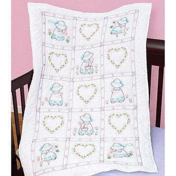 Jack Dempsey NOTM358854 - Stamped White Quilt Crib Top 40