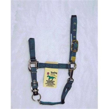 Hamilton Halter Company - Adjustable Chin Halter With Snap- Hunter Green Yearling - 1DAS YRDG