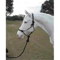 Hamilton Halter Company - Rope Halter With Lead Adult Horse- Black Average - RHL AVBK