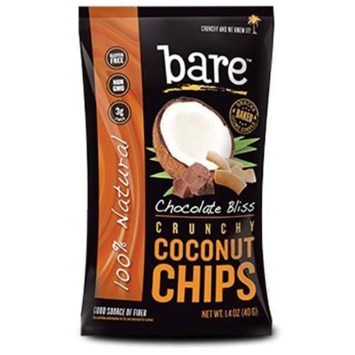 Bare Fruit - 100 Natural Crunchy Coconut Chips Chocolate Bliss - 1.4 oz.