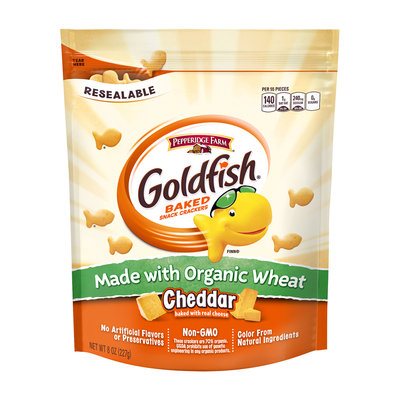 Goldfish® Baked Organic Wheat Cheddar Snack Crackers