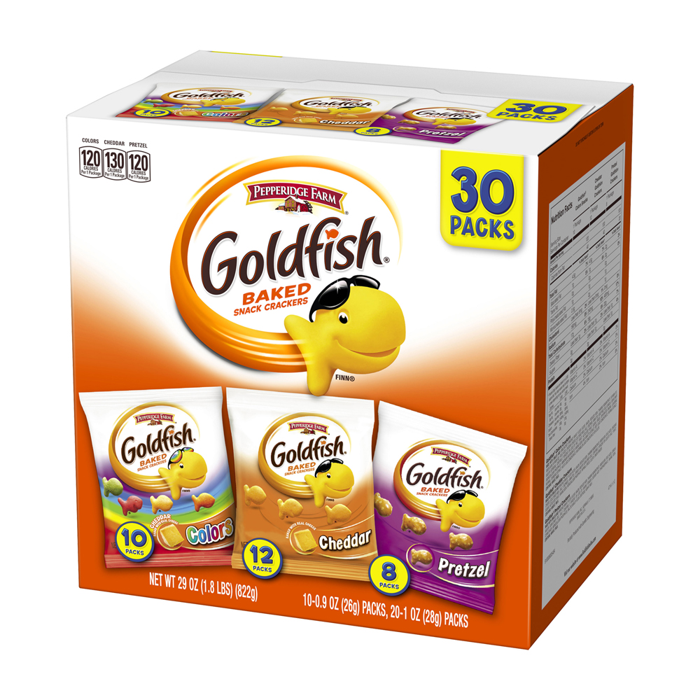 Goldfish® Colors Cheddar Pretzel Baked Snack Crackers Variety Pack