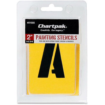 Chartpak CHA01555 Painting Stencil Numbers-Letters- 2in- Yellow