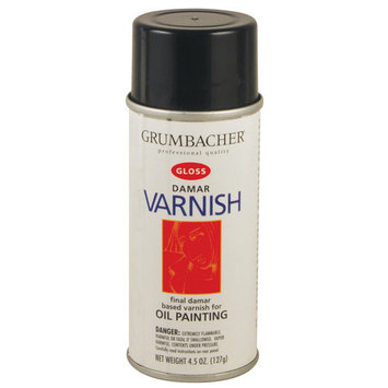 Grumbacher GB533 11.25Oz Damar Matte Varnish Spray