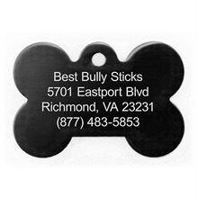 Best Bully Sticks Dog ID Tag - Bone - Large / Black Bone