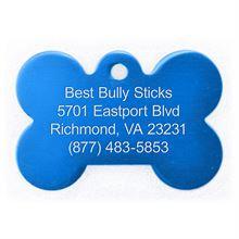 Best Bully Sticks Dog ID Tag - Bone - Large / Blue Bone