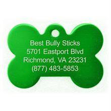 Best Bully Sticks Dog ID Tag - Bone - Large/Green