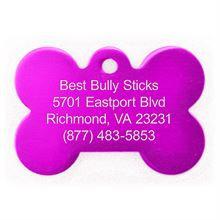 Best Bully Sticks Dog ID Tag - Bone - Large/Pink