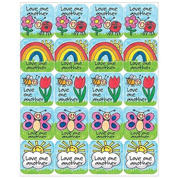 Teacher Created Resources 7002 Childrens Ten Commandments Stickers