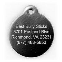 Best Bully Sticks Dog ID Tag - Circle - Small / Black Circle