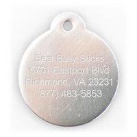 Best Bully Sticks Dog ID Tag - Circle - Small / Silver Circle