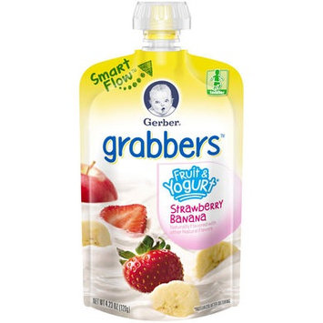 Gerber® Grabbers® Fruit & Yogurt Squeezable Puree | Strawberry Banana