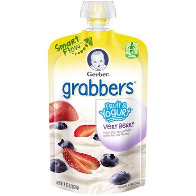 Gerber® Grabbers® Fruit & Yogurt Squeezable Puree | Very Berry