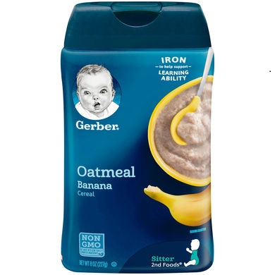 Gerber® Fruit & Grain Baby Cereal   Oatmeal Banana