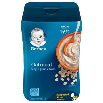 Gerber® Single Grain Baby Cereal | Oatmeal