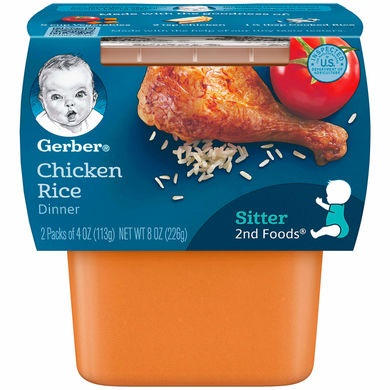 Gerber® 2nd Foods® Baby Food | Chicken Rice Dinner