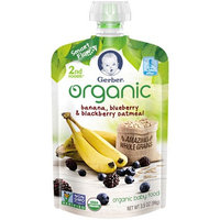 Gerber® Organic 2nd Foods® Baby Food | Banana Blueberry & Blackberry Oatmeal