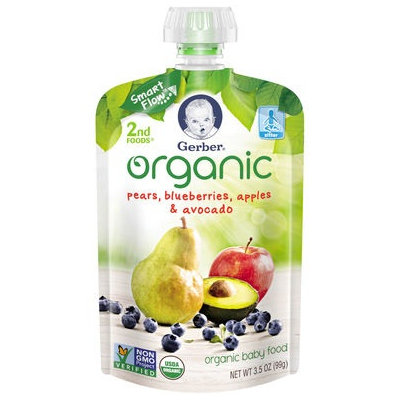 Gerber® Organic 2nd Foods® Baby Food | Pears Blueberries Apples & Avocado