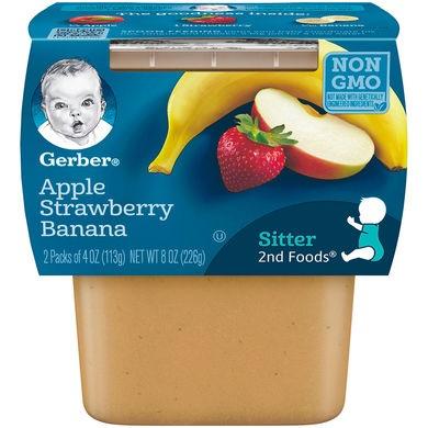 Gerber® 2nd Foods® Baby Food | Apple Strawberry Banana