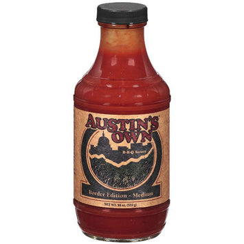 Autin's Austin's Own: B-B-Q Border Edition- Medium Sauce, 18 Oz