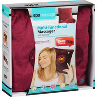 Spa Massage Multi-Functional Massager with Eyemask, Red, 2 pc