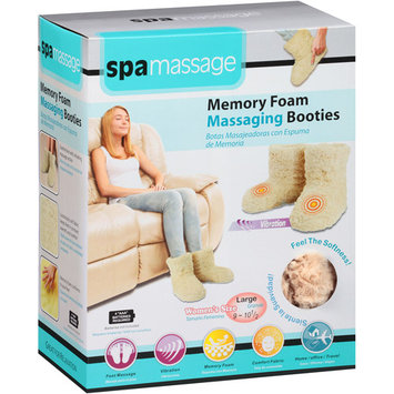 Spa Massage Memory Foam Massaging Booties, Beige Large, 1 pr
