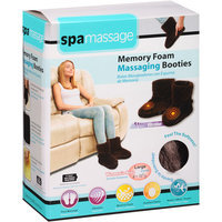 Spa Massage Memory Foam Massaging Booties, Gray Large, 1 pr