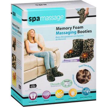 Spa Massage Memory Foam Massaging Booties, Leopard Small, 1 pr
