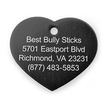 Best Bully Sticks Dog ID Tag - Heart - Large / Black Heart