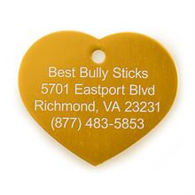 Best Bully Sticks Dog ID Tag - Heart - Large / Gold Heart