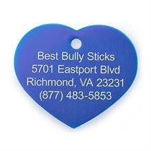 Best Bully Sticks Dog ID Tag - Heart - Small / Blue Heart