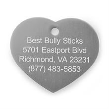 Best Bully Sticks Dog ID Tag - Heart - Small / Silver Heart