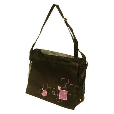 Hagen Dogit Style Nylon Messenger Bag Dog Carrier Color: Argyle Black
