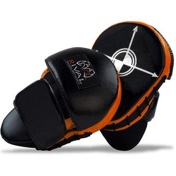 Rival Boxing Mini Russ Anber Punch Mitts - Black/Orange/White