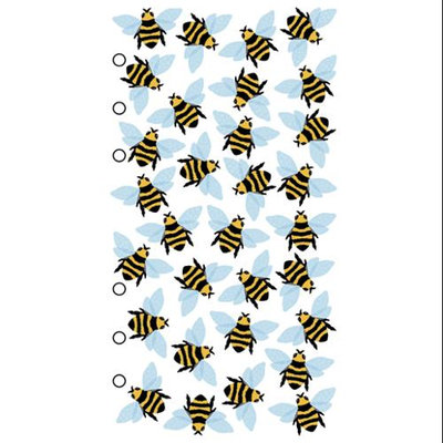 Stickopotamus Insect Sticker Collection bees on clear