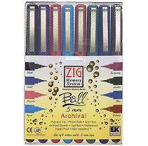 EK Success Archival Ball Writer Pens, .5mm, 8/Pkg, Assorted Colors