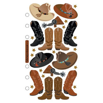 Stickopotamus Outdoor Recreation Stickers cowboy boots and hats