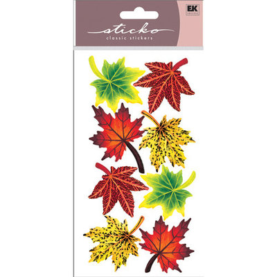 Sticko SPVM-08 Sticko Vellum Stickers-Maple Leaves