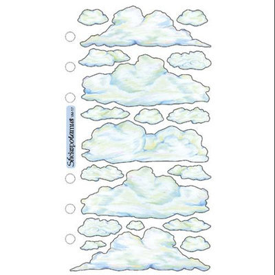 Sticko SPVM-17 Sticko Vellum Stickers-Clouds