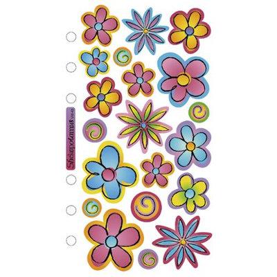 Sticko SPVM-43 Sticko Vellum Stickers-Flowers