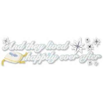 Jolees 298193 Disney Cinderella Title Dimensional Sticker 2 in. x 6 in. -And They Lived Happily Ever After