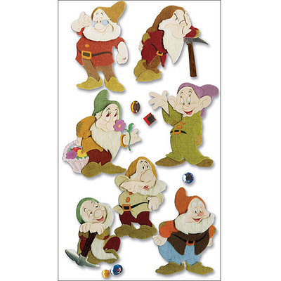 Sticko & Jolee's Disney Movie Dimensional Sticker-Snow White/The Seven Dwarves