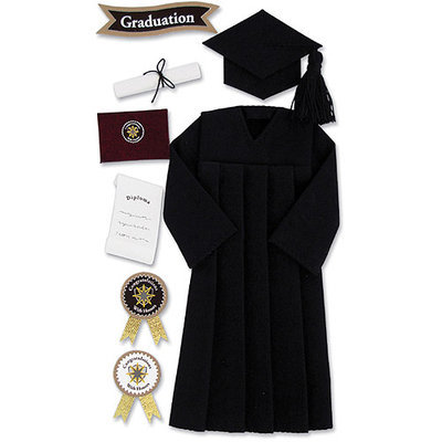 Ek Success SPJBLG-G-110 Jolees Boutique Le Grande Dimensional Graduation Sticker