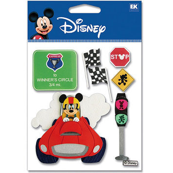Sticko & Jolee's Jolees 312386 Disney Dimensional Sticker-Vacation Race Car Mickey