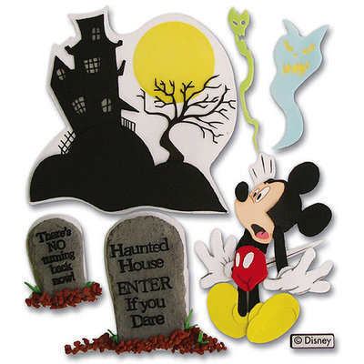 Sticko & Jolee's Jolees 312394 Disney Vacation Dimensional Sticker-Haunted House Mickey
