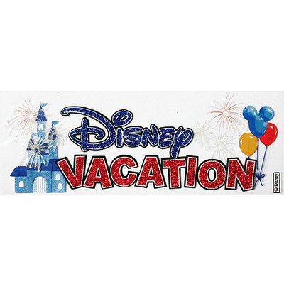 Jolees Sticko 395224 Disney Vacation Title Dimensional Sticker