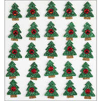 Jolees 447107 Jolees Boutique Dimensional StickersXmas Tree Repeats Pack of 3